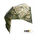 "NGT 50"" CAMO STORM BROLLY WHIT SIDES"