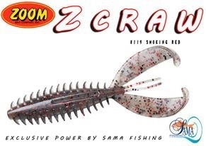 ZOOM Z CRAW SMOKE RED 6pcs