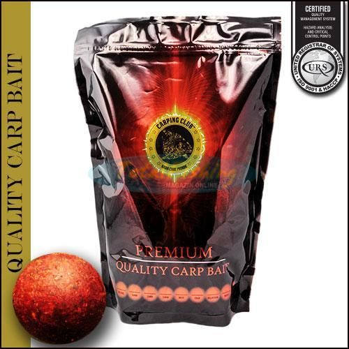 CARPING CLUB BOILIES SOLUBLE MEAT 16MM 1KG