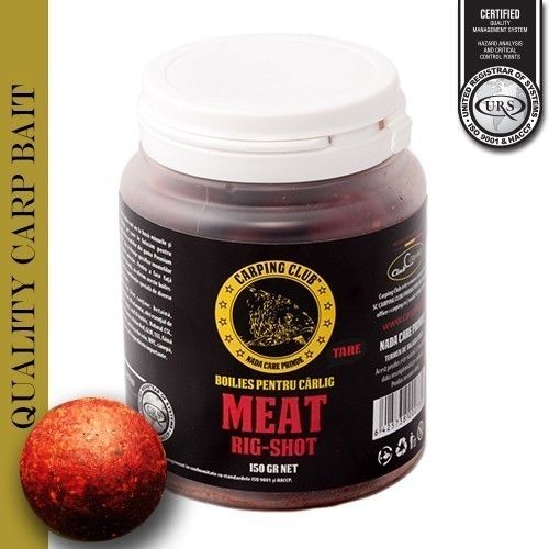 CARPING CLUB RIG-SHOT BOILIES MEAT 150GR