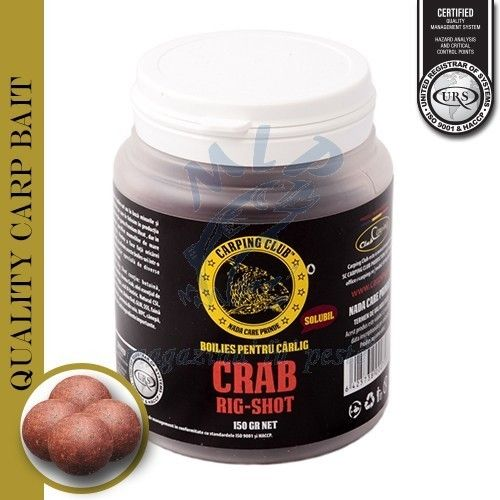 CARPING CLUB RIG-SHOT BOILIES SOLUBLE CRAB 150GR