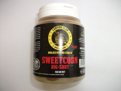 CARPING CLUB RIG-SHOT BOILIES SOLUBLE SWEET-CORN 150GR