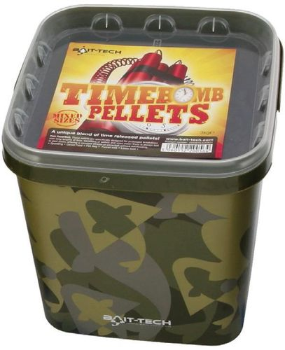 BAIT-TECH TIMEBOMB PELLETS MIXED SIZES CUBO 3KG