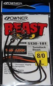 OWNER TWIST LOCK BEAST 10/0 L QTY2