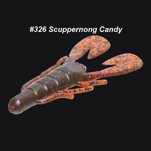 ZOOM ULTRAVIBE SPEED CRAW SCUPPERNONG CANDI 12PCS