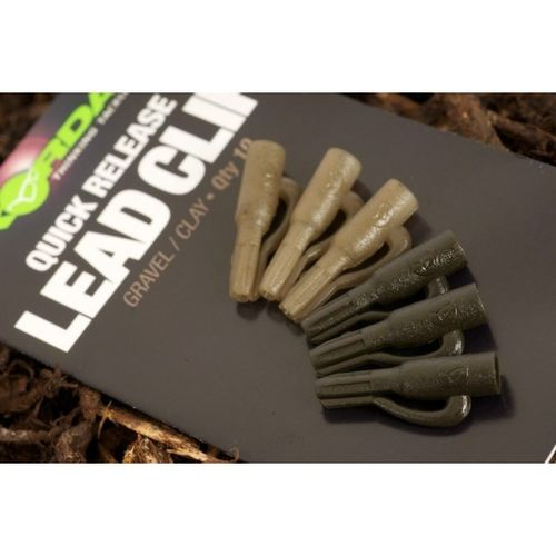 KORDA QUICK RELASE LEAD CLIP GRAVEL CLAY QTY10