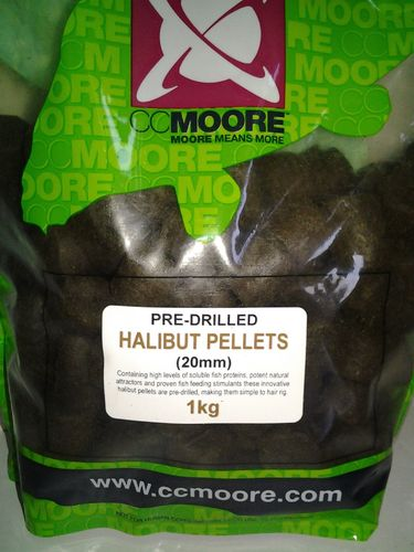 CCMORE PRE-DRILLED PELLETS HALIBUT 20MM 1KG