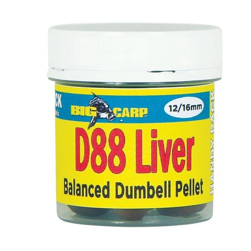 BIG CARP PELLET BALANCED DUMBELL D88 LIVER 12-16MM 150GR