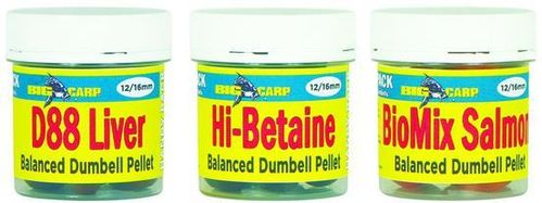 BIG CARP PELLET BALANCED DUMBELL HI-BETAINE 12-16MM 150GR
