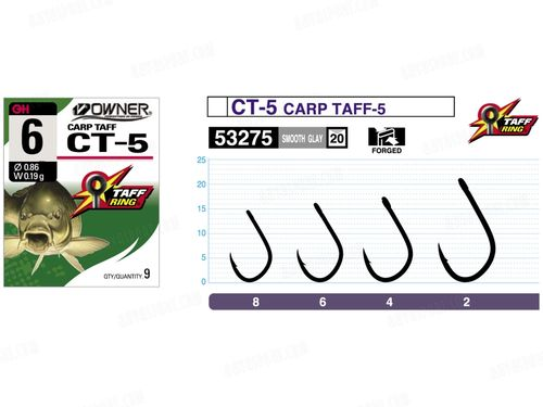OWNER ANZUELO CARP TAFF CT-5 SIZE 2 QTY10