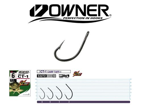 OWNER ANZUELO CARP TAFF CT-1 SIZE 2 QTY10