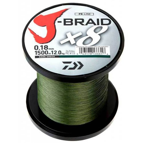 DAIWA TRENZADO J-BRAID 0.42MM 1500MT 46.5KG