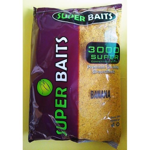 SUPERBAITS 3000 COMPETITION BIG BANANA 2KG  (FISH MEAL-CRUSHED SEED-MICROPELLET-HIGH PROTEIN-OIL)