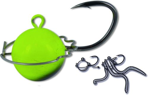 BLACKCAT WORMBALL JIG HEAD 100GR
