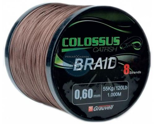 GRAUVELL COLOSSUS 8 BRAID 1000MT 0.50MM 42KG