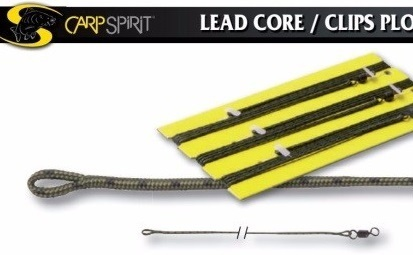 CARPSPIRIT SPLICED LEADCORE 45LB LEADERS LOOP TO SWIVEL 3PCS DE 90CM
