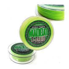 MADCAT 8-BRAID HIGHLY VISIBLE GREEN 0.60MM 61.20KG 270MT