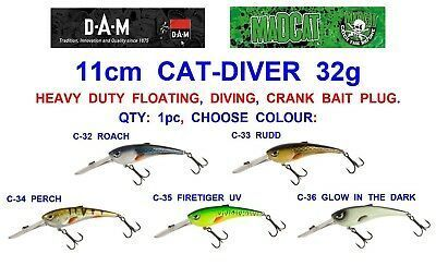 MADCAT CATDIVER 11CM 35GR FLOATING 4.5MT DIVING DEEP COLOUR GLOW