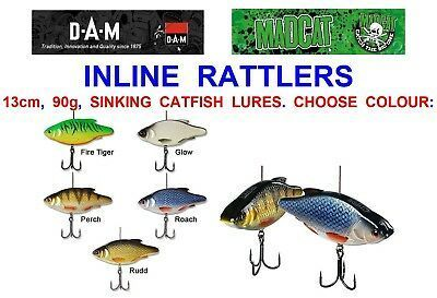MADCAT INLINE RATTLER 90GR 13CM 220LB SVIWEL COLOUR PERCH